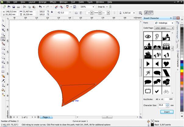 cara membuat Wallpaper Valentine menggunakan CorelDraw X4