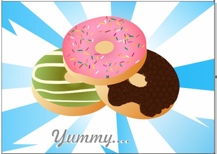 Membuat Donut's Vector