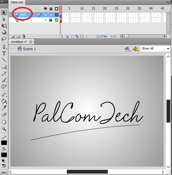 how to get hand writing animation on adobe