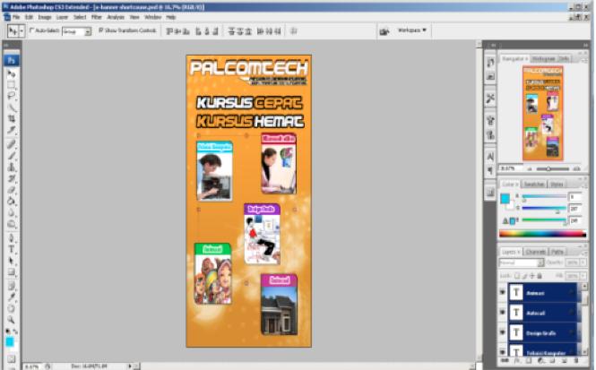 Membuat Desain X Banner Sederhana Dengan Adobe Photoshop