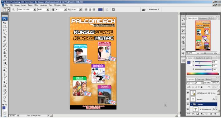 Cara Membuat X Banner Dengan Photoshop Cs4 | membuat