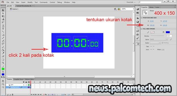 Tutorial Membuat Jam Digital Menggunakan Adobe Flash CS 6