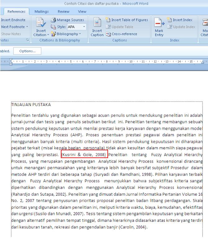Membuat Daftar Pustaka Otomatis menggunakan Microsoft Word